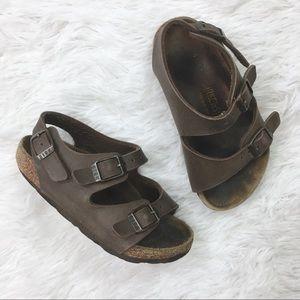 BIRKENSTOCK Milano Brown Sandals Size 8c